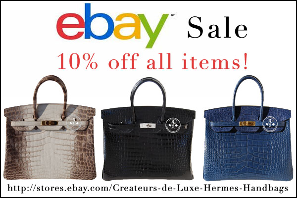 Createurs de Luxe is having an eBay Sale! - 10% off all items